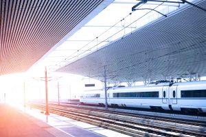 high speed railway platform
